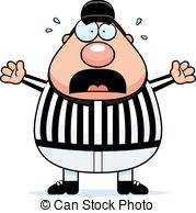 ... Scared Referee - A cartoon referee with a scared expression.