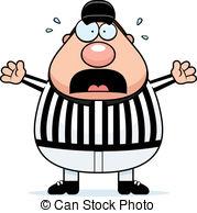 ... Scared Referee - A cartoon referee w-... Scared Referee - A cartoon referee with a scared expression.-5