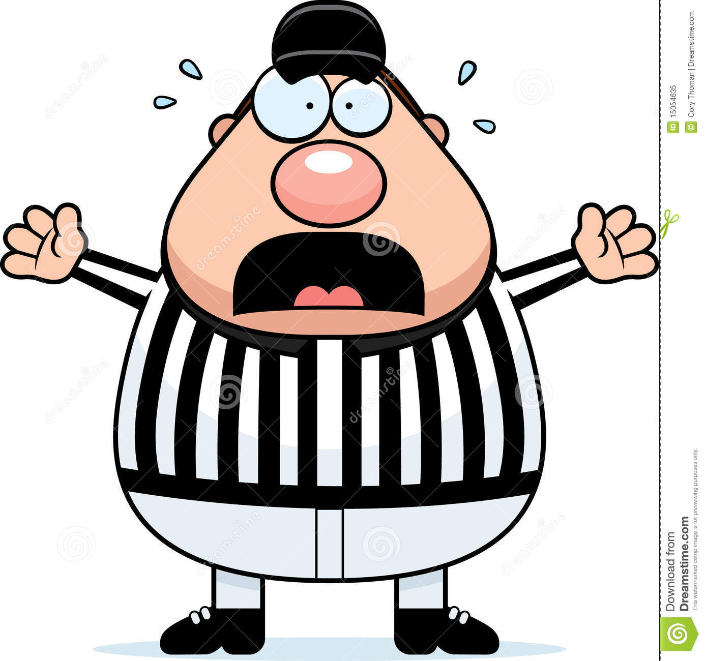 Scared Referee Royalty Free Stock Photo
