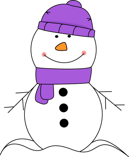 Scarf And Hat Clip Art Snowman .