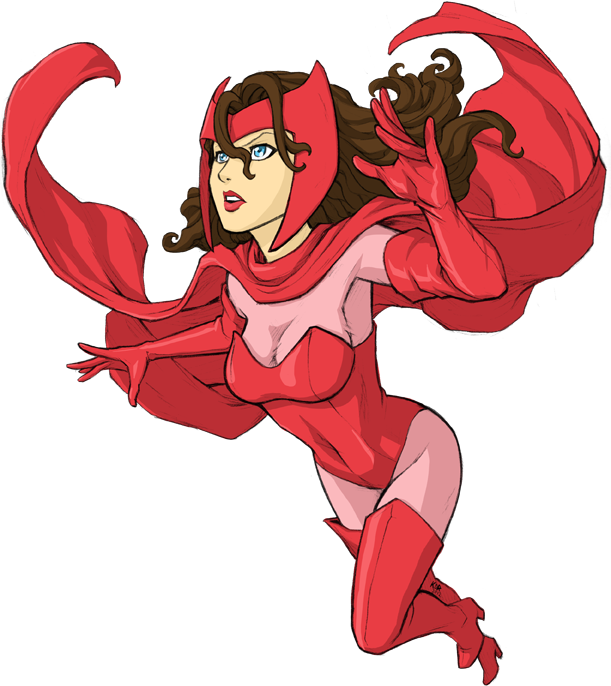 Marvel Comicu0027s Scarlet Witch. pencil and color: Kevin Raganit  www.kevinraganit clipartlook.com