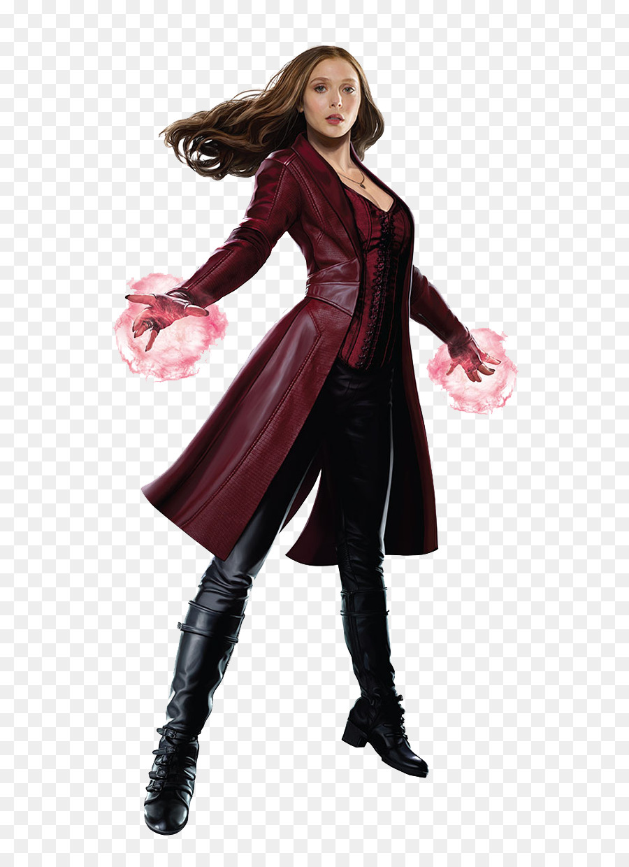 Wanda Maximoff Captain America Quicksilver Rogue Marvel Cinematic Universe  - Scarlet Witch PNG Transparent Picture