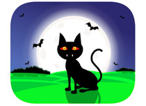 Scarry Witch Siting On Broomstick And Waving Halloween Clipart Size: 56 Kb