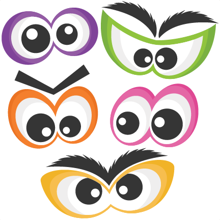 Scary Eyes Clip Art