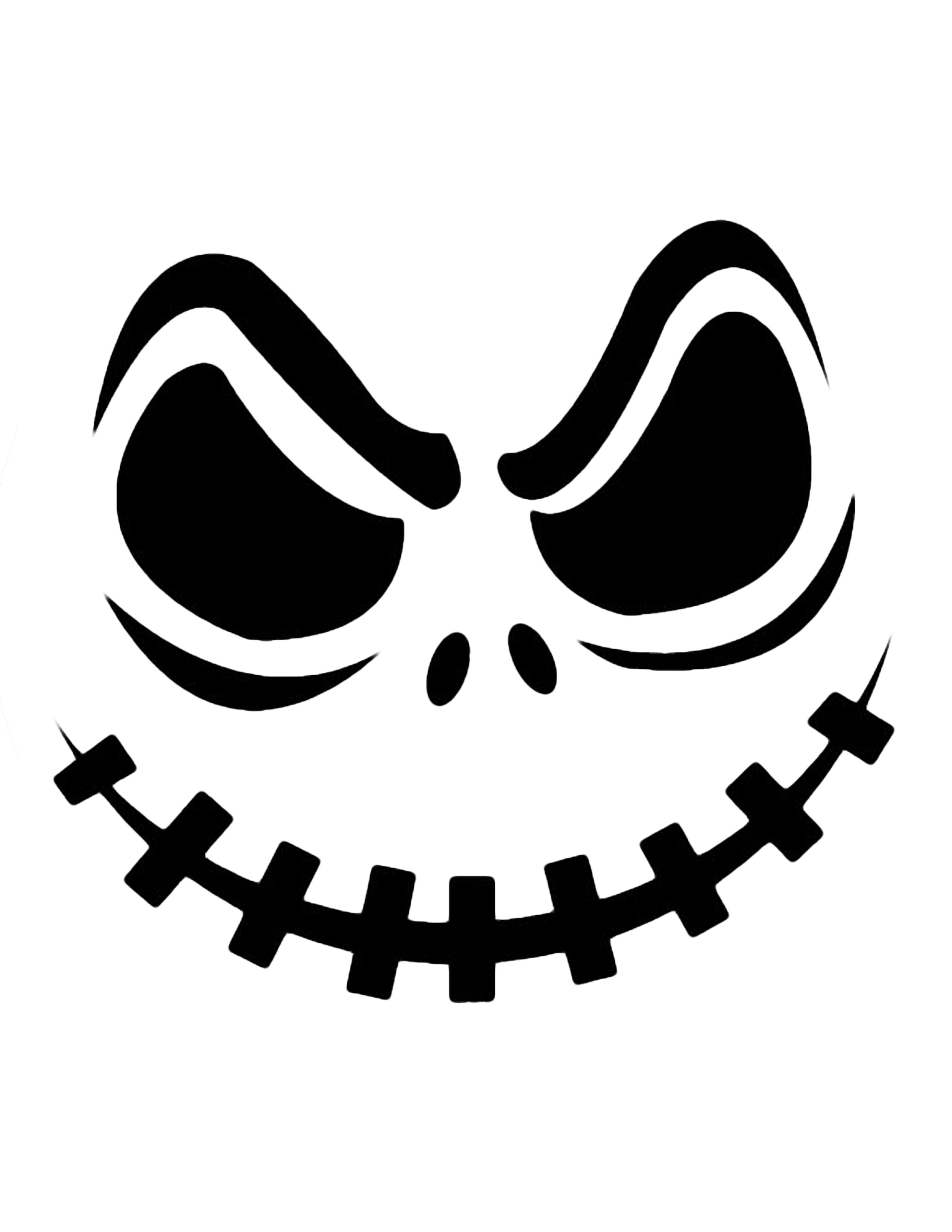 Scary Halloween Clipart Black .