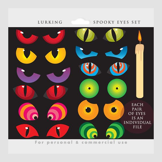 Scary halloween eyes clipart - ClipartFest