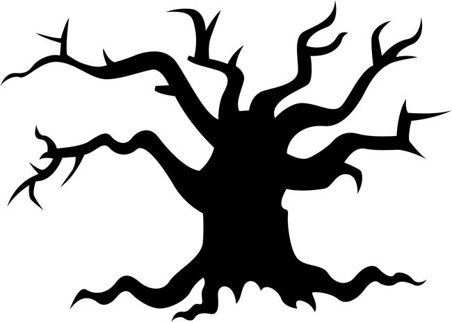 Scary Tree Clip Art - Clipart library. Halloween ...