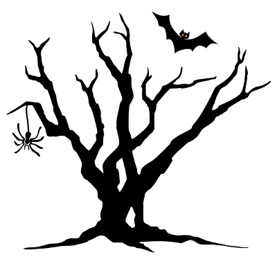 Scary Tree Clipart . - Creepy Clip Art