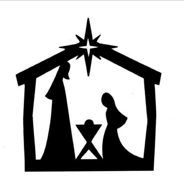 Scene Silhouette u0026middot; Silhouette Nativity