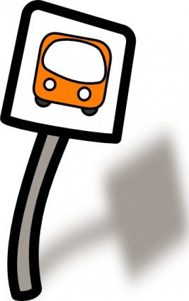 school bus stop clipart