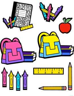 school supplies clipart for kids