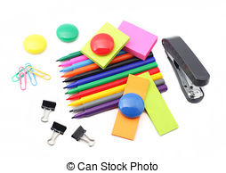 ... School And Office Supplies Isolated -... School and office supplies isolated on white background-17