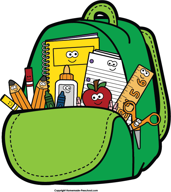 School backpack clip art clipartwiz