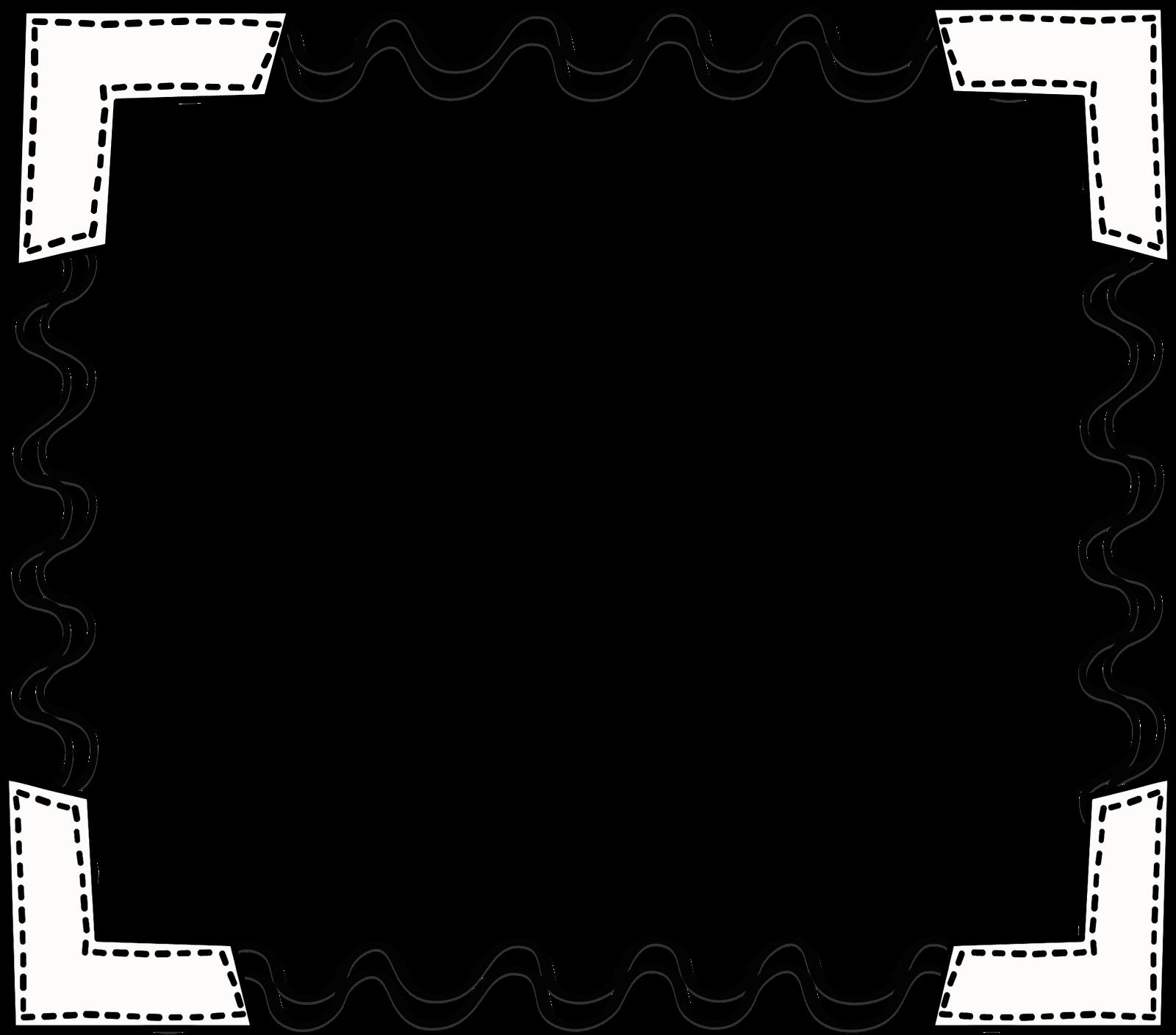 School Border Clipart Black . - Black And White Border Clip Art