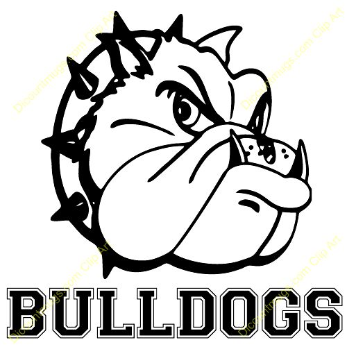 School Bulldog Clipart Free .