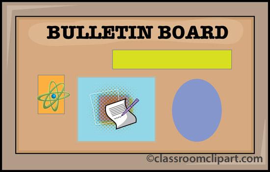 School Bulletin Board 12 Classroom Clipart