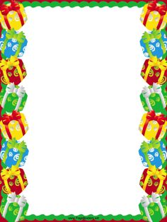 School Clip Art Line Border | Gifts and Packages Christmas Border page border