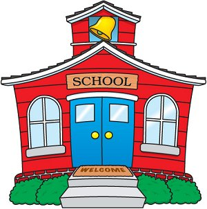 Cartoon School Building Clipa