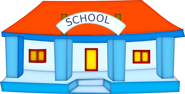 Cartoon School Building Clipa - School Clipart