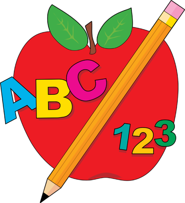 Great Clip Art For Back To School: ABC A-Great Clip Art for Back To School: ABC Apple and Pencil-9