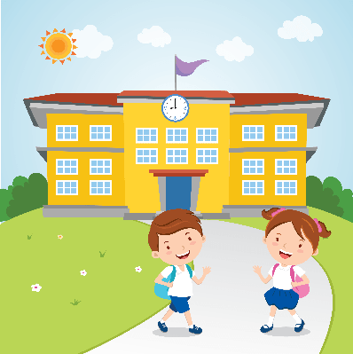 Kids Go to School | Clipart - School Clipart