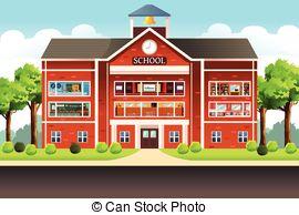 . ClipartLook.com School Building - A Ve-. ClipartLook.com School Building - A vector illustration of school building-13