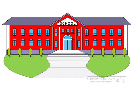 School High School Building Classroom Clipart