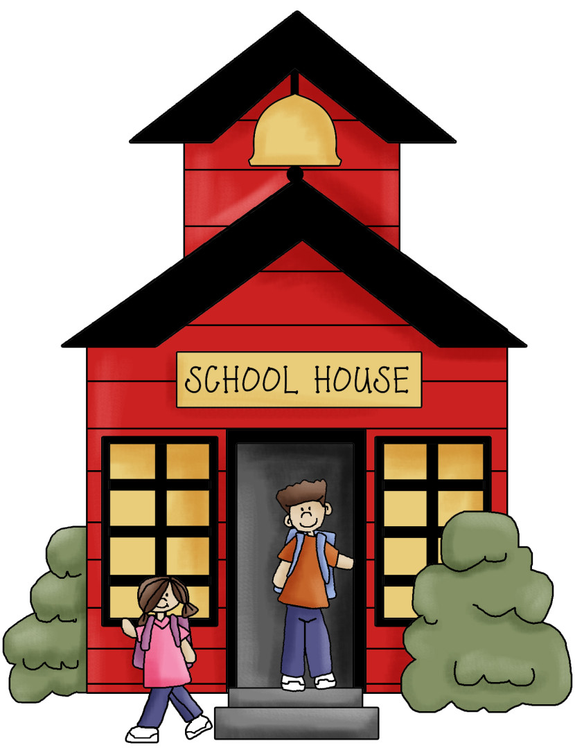 School House Clip Art Black And White Free