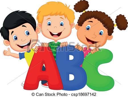 ... School kids cartoon with ABC - Vecto-... School kids cartoon with ABC - Vector illustration of School.-9