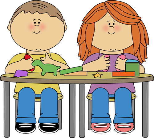 ... School Kids Clip Art u0026middot; Kids Playing with Clay