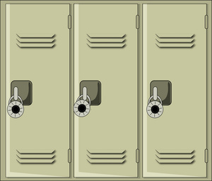 School Locker Policy Student  - Locker Clip Art