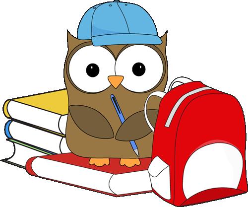 School Owl Clip Art Image Cute School Owl Wearing A Baseball Cap