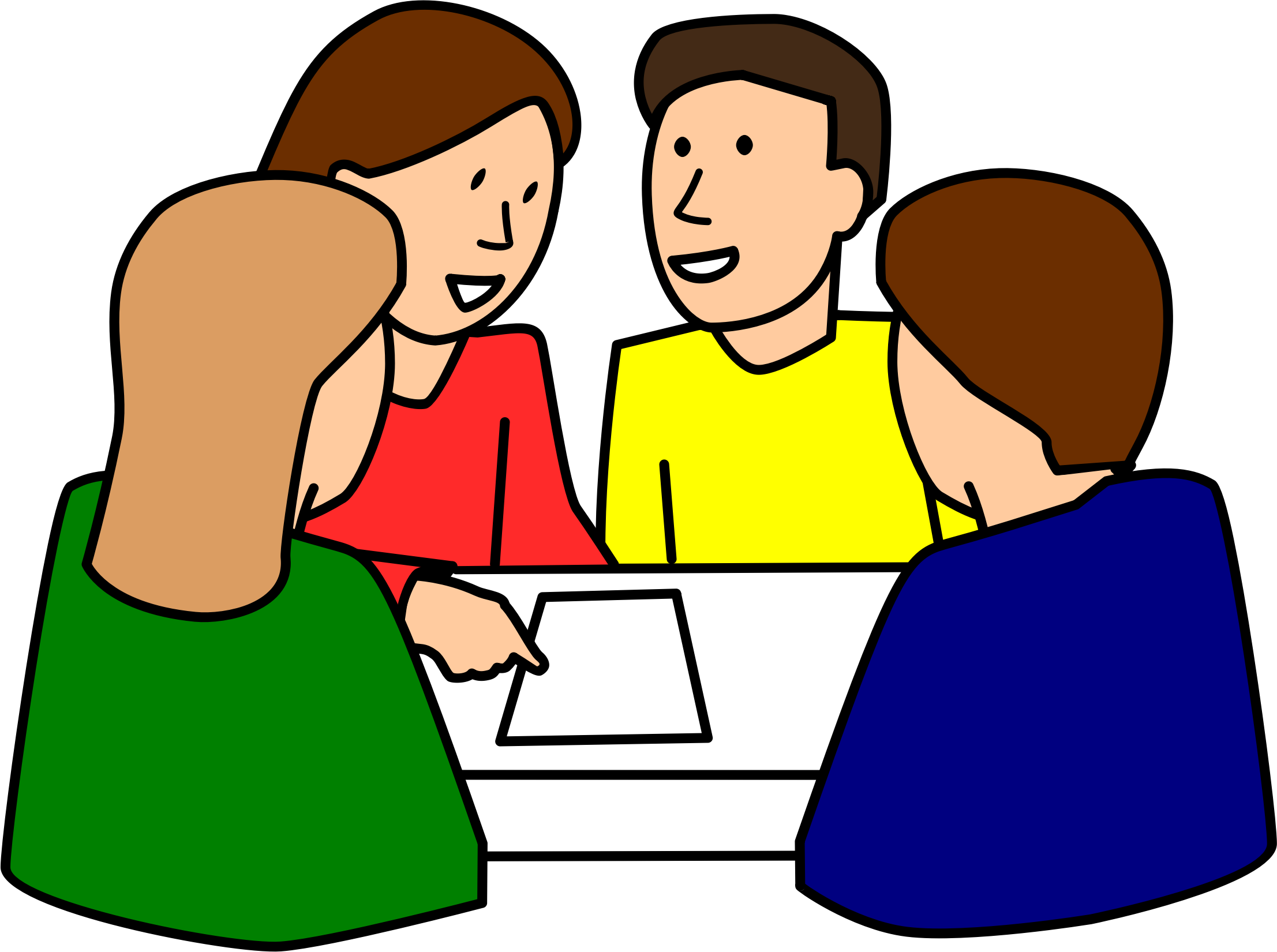 School Small Group Clipart