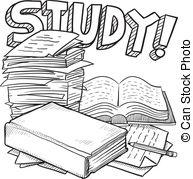 School Study Sketch - Doodle Style Schoo-School study sketch - Doodle style school study illustration... School study sketch Clipartby ...-8