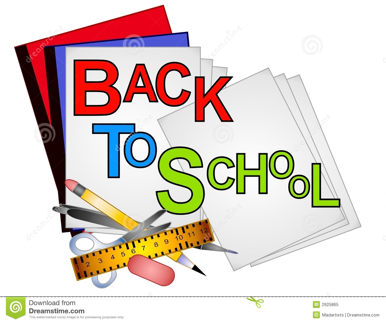 School Supplies Clip Art 4 Ro - School Supply Clipart