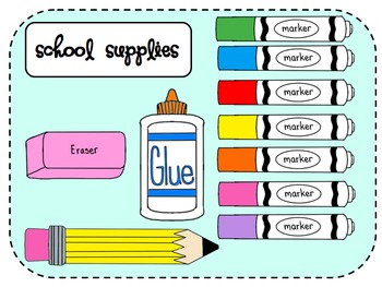 School Supplies Clip Art Mega .