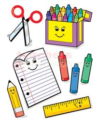 School Supplies Clip Art North Canton Elementary