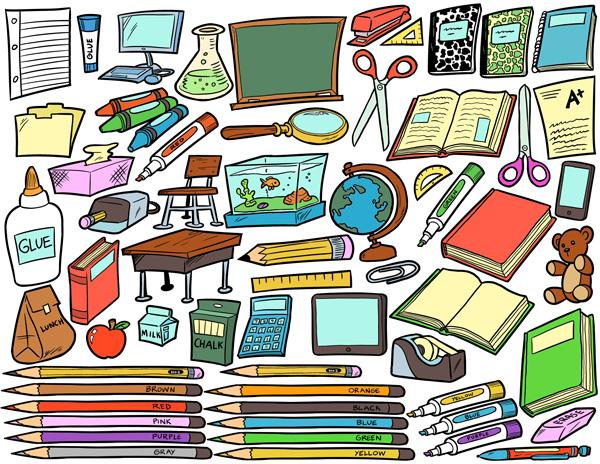 School supplies clip art pack - School Supplies Clipart
