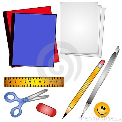 School Supplies Clip Art Stock .