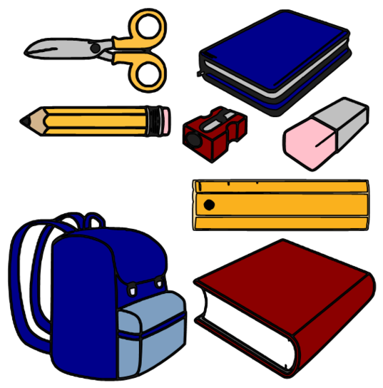 School Supplies Clipart - School Supply Clipart