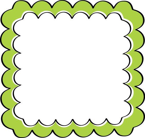 school theme border clipart | Green Scal-school theme border clipart | Green Scalloped Frame - Free Clip Art Frames-13