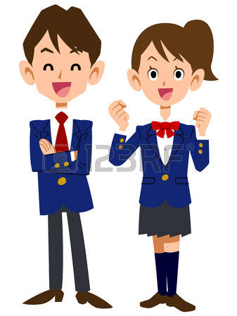 School Uniform: Smile Students Illustrat-school uniform: Smile students Illustration-17
