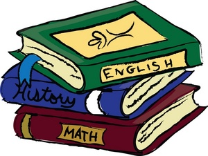 Schoolbooks Clipart Image Text Books Or -Schoolbooks Clipart Image Text Books Or School Books Covering English-16