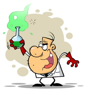 Science Clipart Image: A Mad .