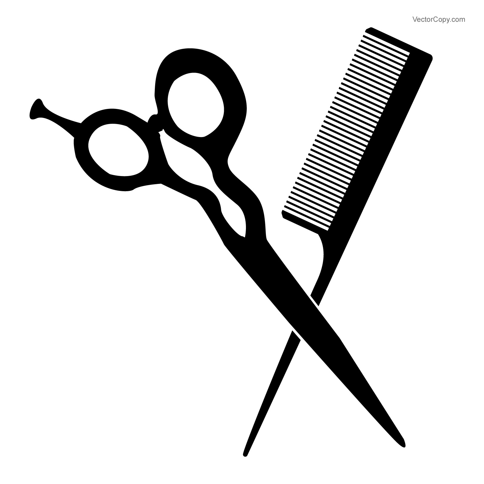 Scissors free scissor and comb clip art 2