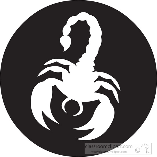 animal scorpion round icon clipart. Size: 98 Kb From: Icons Animals