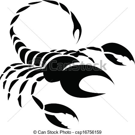 Black Scorpio Zodiac Star Sign - csp16756159