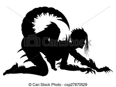Woman Scorpio Silhouette - csp27870529