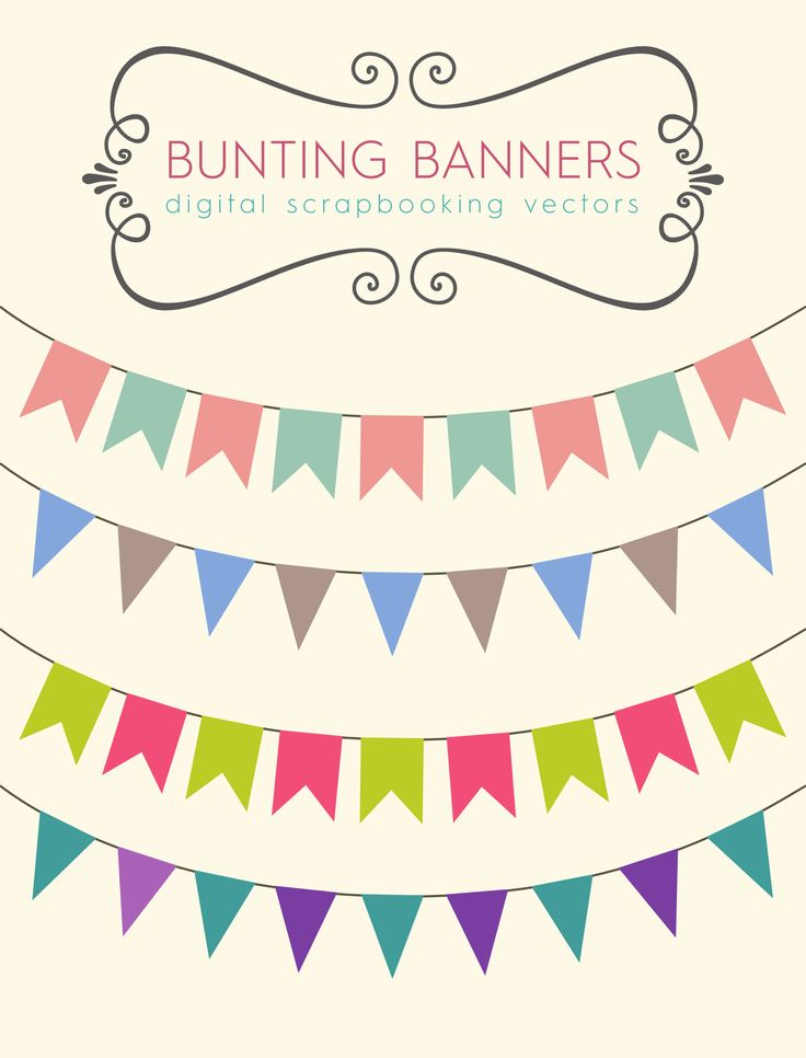 scrapbook, bunting, royalty free images, vector file, free vector graphics, clip