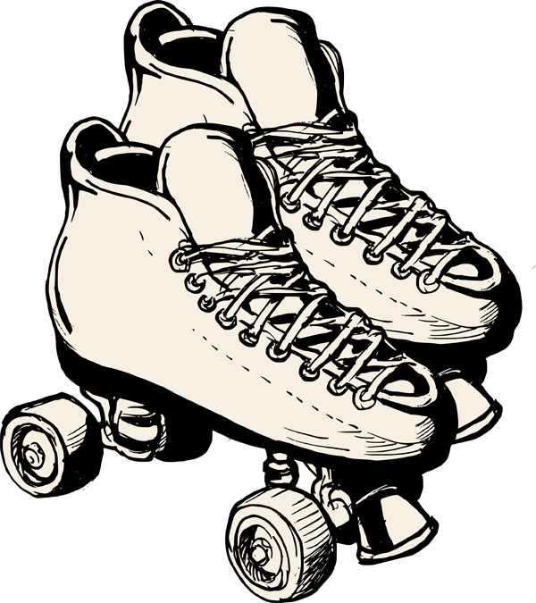 ... Scrapbooking Cardmaking R - Roller Skating Clipart